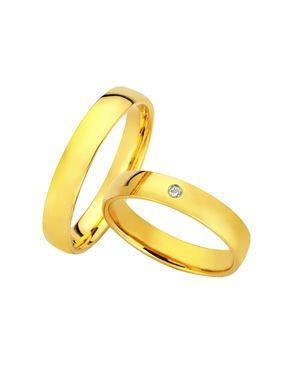 Βέρες BONISE' χρυσός Κ9 με Διαμάντι