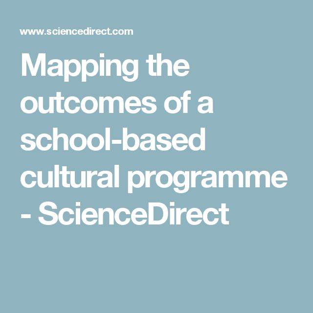 Mapping the outcomes of a school-based cultural programme - ScienceDirect