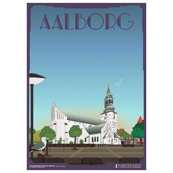 Limited edition plakat af Aalborg Domkirke/Budolfi Kirke