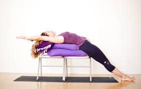 Chair back extension iyengar yoga pinterest search for Chaise yoga iyengar