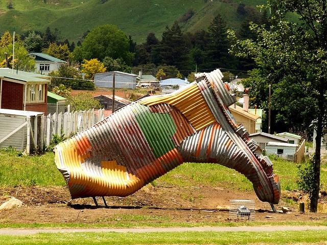Corrugated metal creation in Taihape