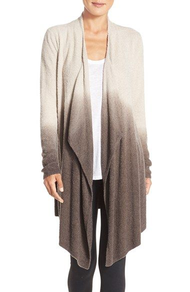 Free shipping and returns on Barefoot Dreams® Drape Front Cardigan (Nordstrom Exclusive) at Nordstrom.com. An ultrasoft open cardigan cut to a deliciously draped silhouette goes seamlessly from idle hours to afternoons out.