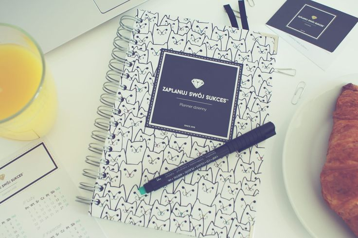 Planner dzienny | Zaplanuj Swój Sukces | Planner White Cats Bold