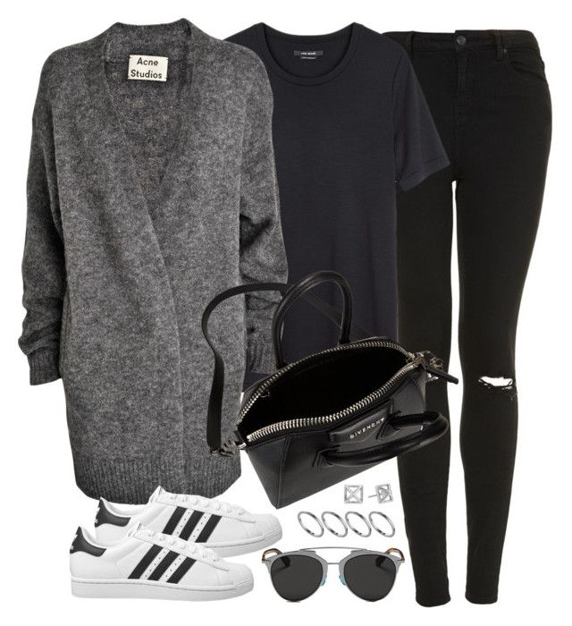 """Untitled #590"" by jennifer1297 ❤ liked on Polyvore featuring Topshop, Isabel Marant, Acne Studios, adidas Originals, Christian Dior, Givenchy, ASOS and Rebecca Minkoff"