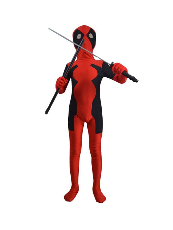 Oliver- kids deadpool costume