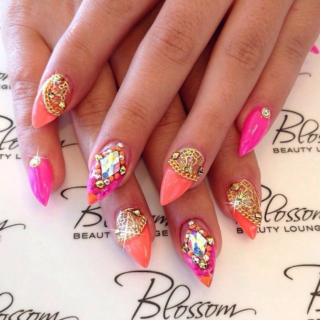 122 Nail Art Designs That You Won T Find On Google Images: 16 Best Stiletto Nail Designs Images On Pinterest