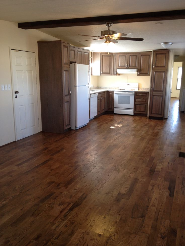 Hardwood floors in a mobile home flooring pinterest for Homes with hardwood floors