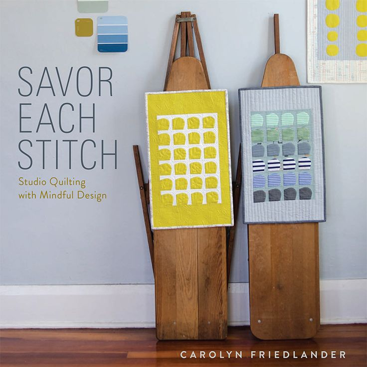 My first book… Savor Each Stitchis a design-focused look at quilting with 8 different projects that explore the techniques and tools that I use in my own quilt making. As a quilter with a design-school training, it's what I think about when I think about making quilts, from start to finish. My goal in writing …