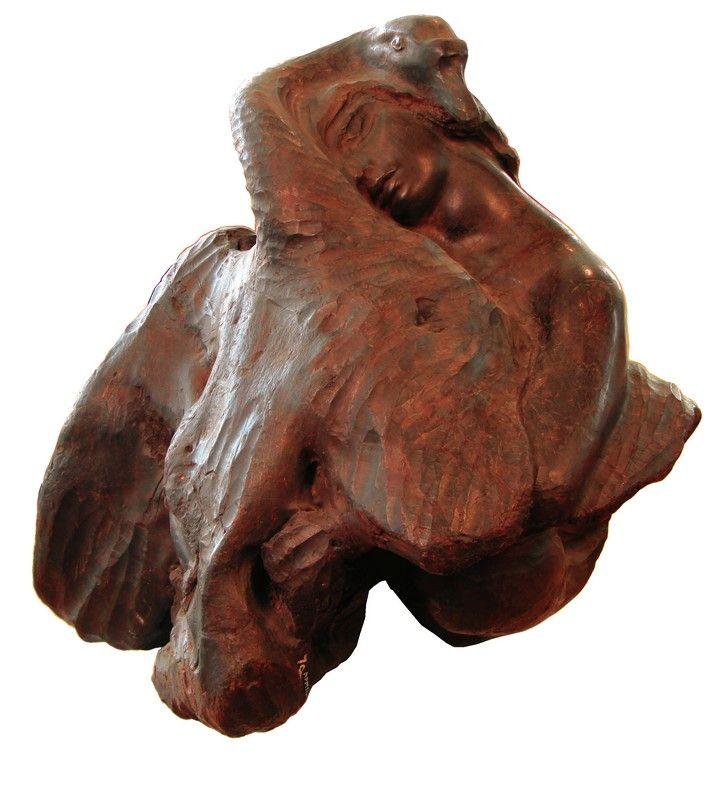 http://erzia-museum.ru/ru/kollekciya/stepan-erzya/galereya-rabot/ Леда и лебедь. 1922 г. Кавказский орех.