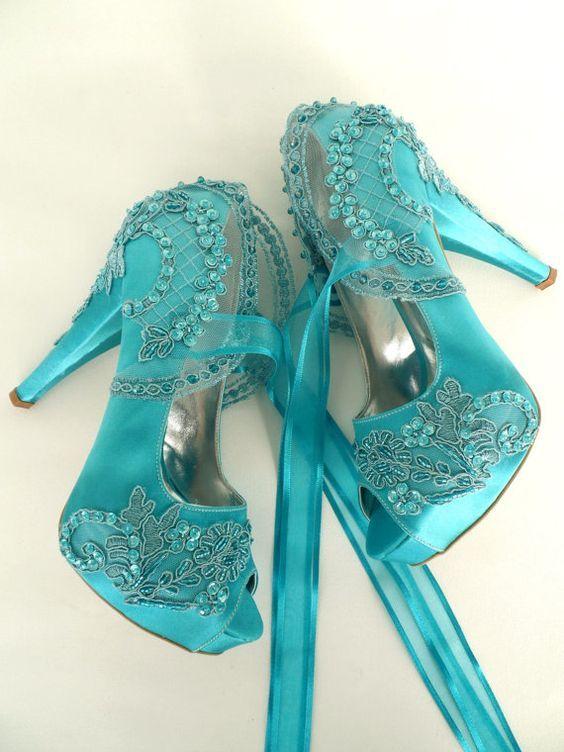 Best 25 Teal Wedding Shoes Ideas On Pinterest