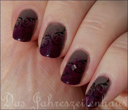 8 best gothic nail art designs images on pinterest gothic nail beautiful gradient stamp nails tutorial at jahreszeitenhausspot prinsesfo Gallery