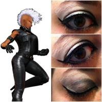 Storm from the X-Men - Superhero inspired makeup. #storm #xmen #makeup #eyeshadow #sephora