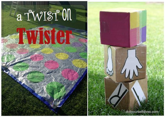 DIY: Giant Yard Twister Game with SHAVING CREAM