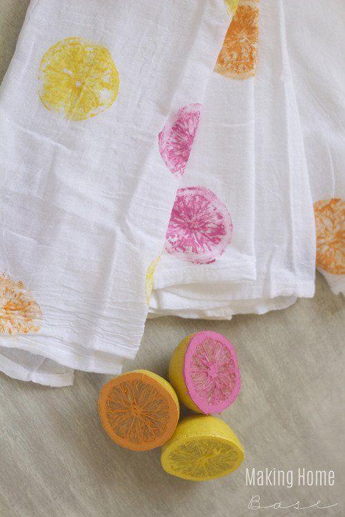 diy printed tea towels