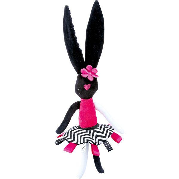 Maskotka królik do stymulowania wzroku dziecka #moje #bambino #rabbit #visual #stimulation #infants #baby #view  http://www.mojebambino.pl/percepcja-wzrokowa/10891-kroliczka-kontrastowa.html