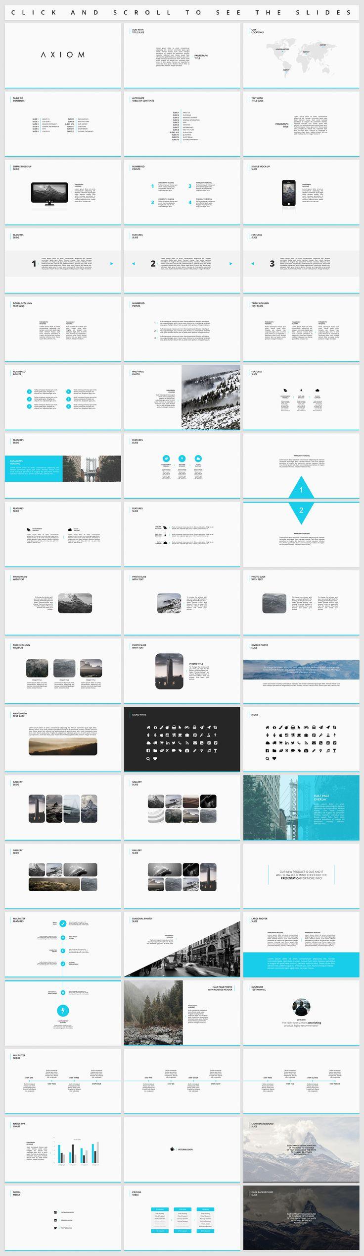 Axiom - Simple Presentation by Tugcu Design Co. on @creativemarket