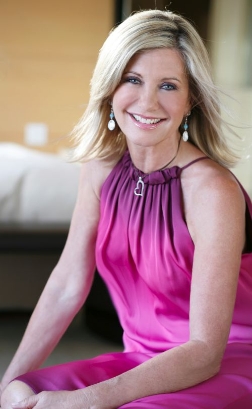 Olivia Newton John, my supposed-look-alike. I hope to look half as good as her at her age!