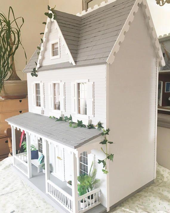Modern New England Style Fully Furnished Designed Dolls House