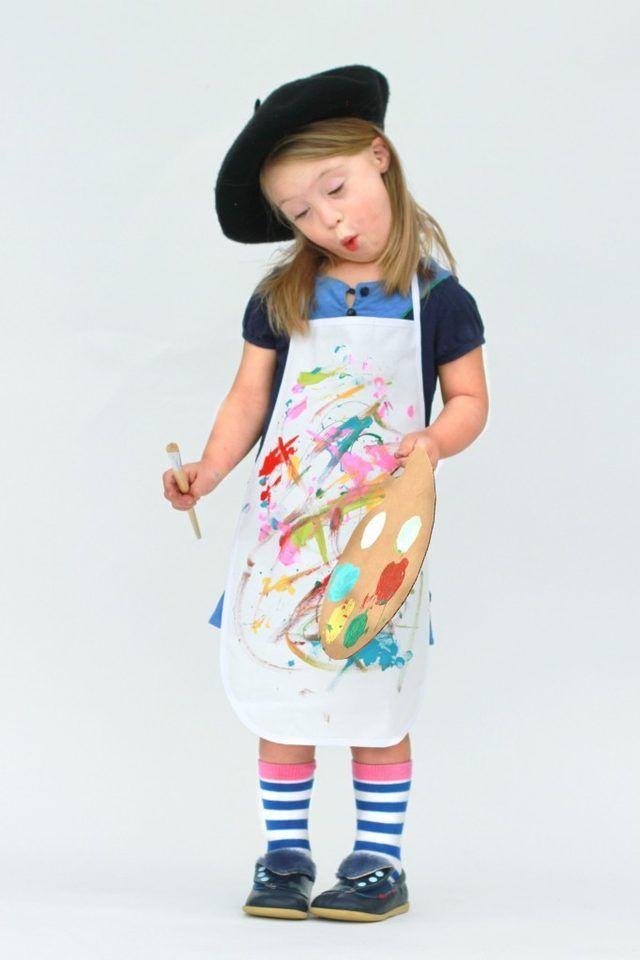 child in artist costume