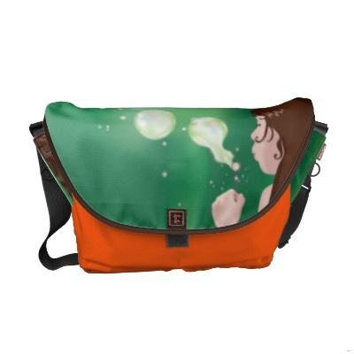 Blowing Bubbles, my new Rickshaw Messenger Bag on Zazzle!