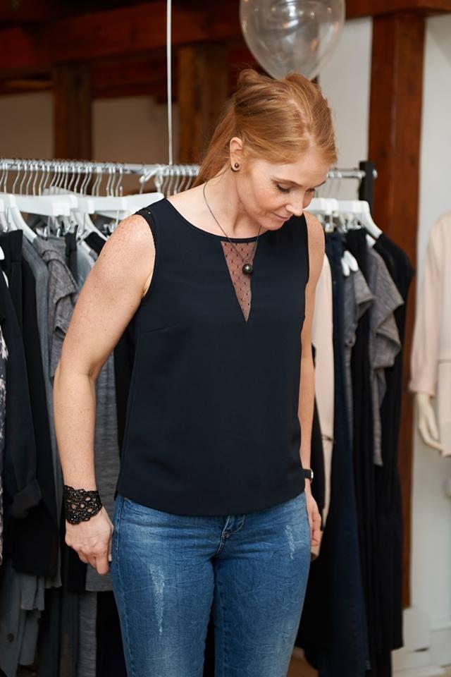 Kick Off i Kolding. Lene her i Farrah woven top og de flotte Fluorite jeans.
