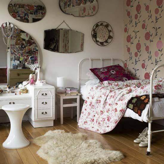 vintage bedroom ideas for teenage girls - Google Search