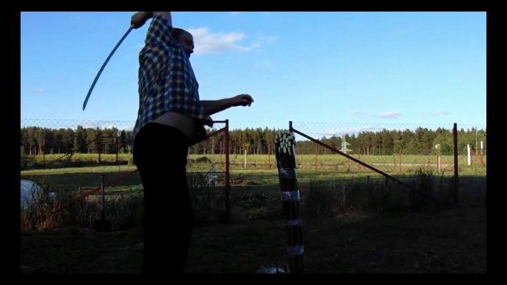 """Замедленное видео """"Рубка пучка из 21 лозы.2 часть.Шашка кавказская гурда..."""