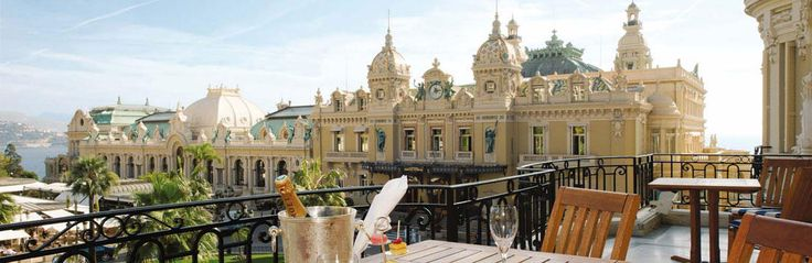 A simple flight of steps leads from Place du Casino to the majestic lobby of the Hôtel de Paris in Monte-Carlo