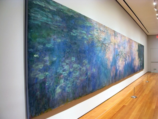 "Claude Monet ""Water Lilies"" (Metropolitan Museum of Art, New York) Monet painted a series of 250 water lily paintings in museums all over the world."