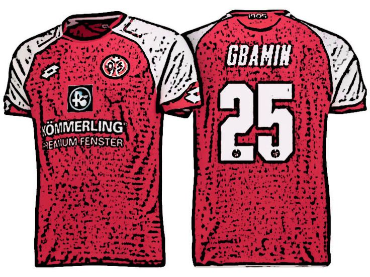 FSV Mainz 05 Kit Jersey For Cheap jean philippe gbamin 17-18 Home Shirt