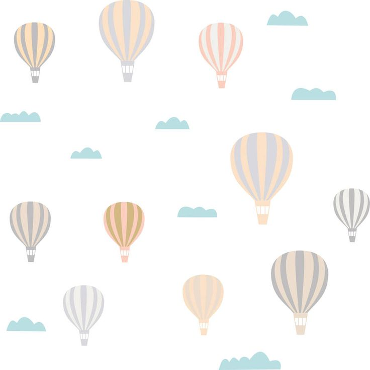 Original_hot Air Balloon Wall Stickers 900×899 Pixels Part 69