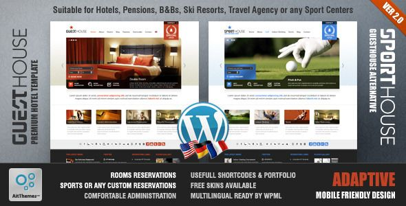 Guesthouse Hotel Sport Center 2in1 Premium Theme Guesthouse   Hotel & Sport Center 2in1 Premium Theme