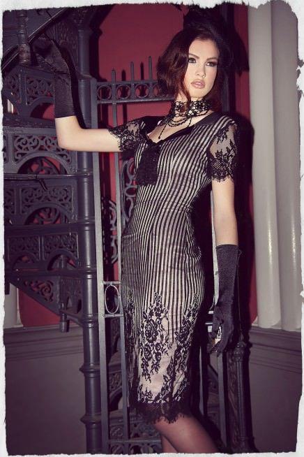 St. Germain Collar Wiggle Dress