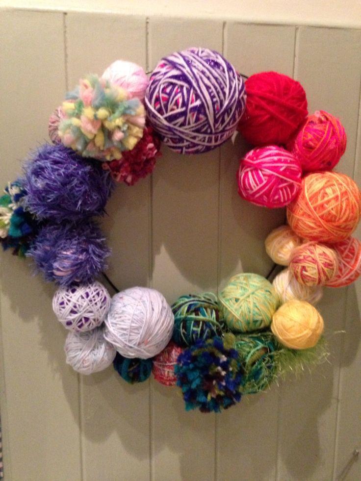 Colour wheel wreath