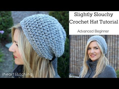Slightly Slouchy Crochet Hat Tutorial. Link download: http://www.getlinkyoutube.com/watch?v=ysm3RnvCsdU