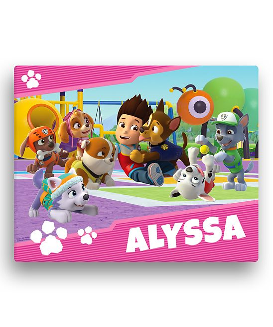 PAW Patrol Pup Park 11'' x 14'' Personalized Wrapped Canvas
