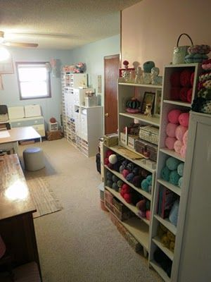 *Two Crazy Crafters Craft Room  There Are Some Great Storage Ideas In Here!