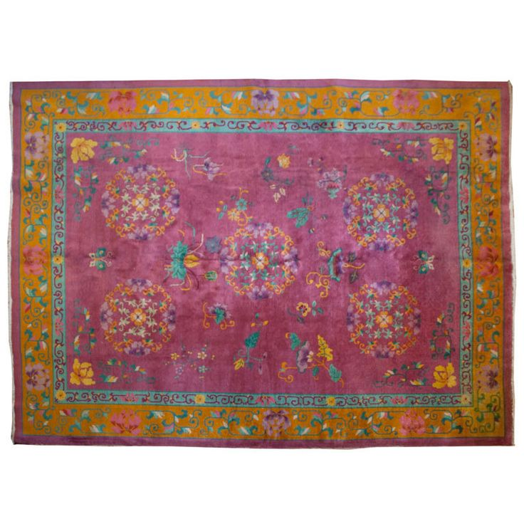 Chinese art deco carpet 9 x 12