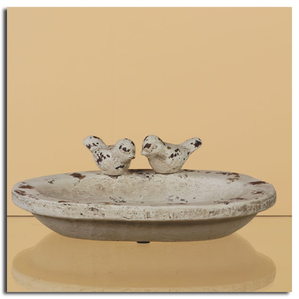 Country Chic Ceramic Bird Basin    Only $18.79 at Oddity Store