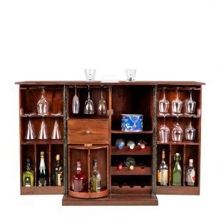 Buy Nordic Openable Bar Unit Chest Nut Online in India - HO340FU97CHYINDFUR - HomeTown.in