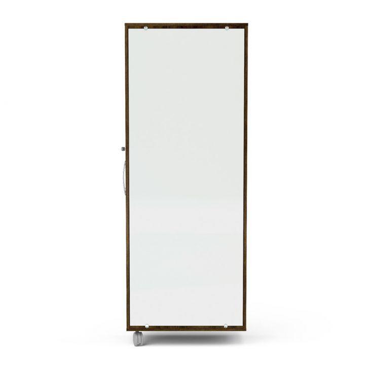 Sapateira com Espelho Itú 1 Porta e 16 Prateleiras Tabaco