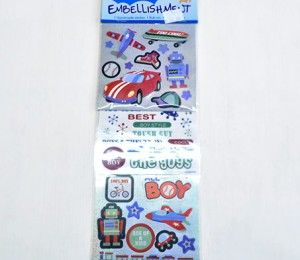 Boy's Toys Sticker Embellishments on sale for R47.50  | Paradise Creative Crafts