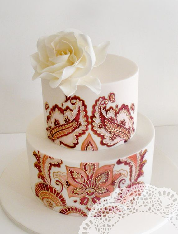 Colorful Photo of Moroccan Patterned Cake