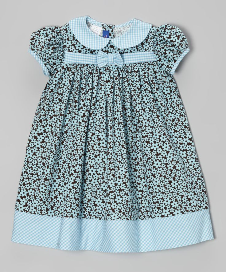 Take a look at this Brown Floral Corduroy Dress - Infant & Toddler on zulily today!