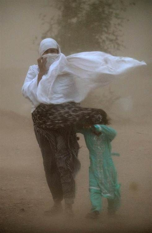 Dust storm on the Indian sub-continent, Islambad, called Andhi by the locals.  Farooq Naeem/AFP - Getty Images