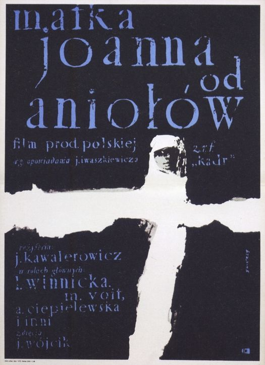 By Waldemar Swierzy, 1 9 6 1, Mother Joan of the Angels, poster for Polish film, Poland.