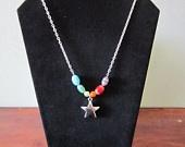 Rainbow Star NecklaceAdornment Mi, Mi Etsy, Stars Necklaces, Etsy Shops, Rainbows Stars, Dia Adornment