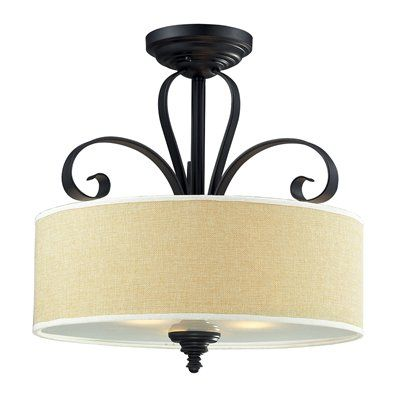 Z-Lite 200 Charleston 3-Light Semi Flush Mount