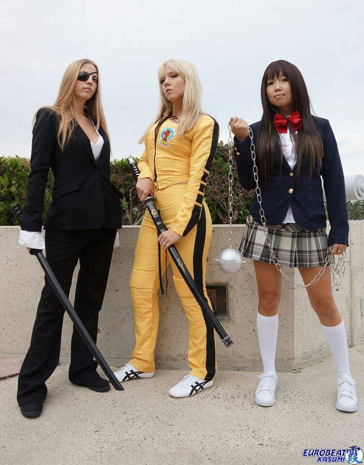 Kill Bill. Elle Driver, Beatrix Kiddo, Gogo Yubari costume / cosplay.
