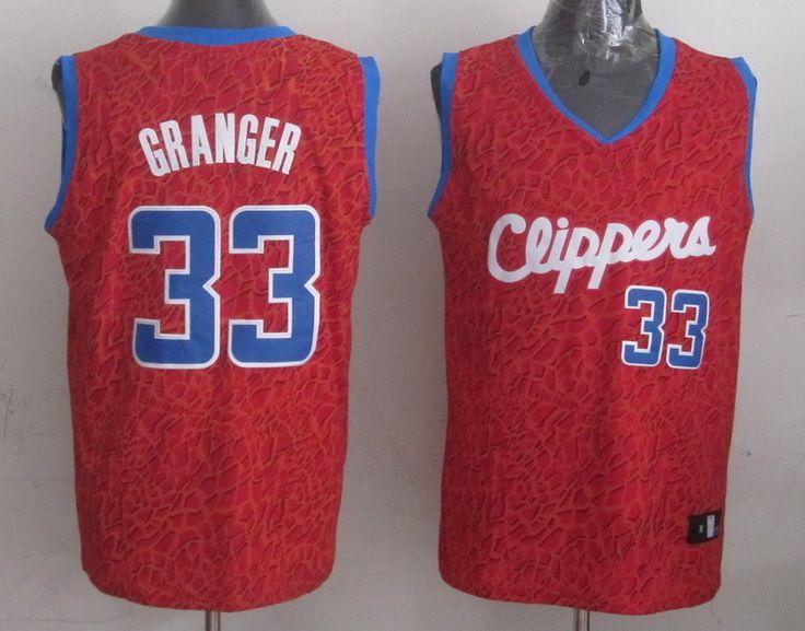 Men's NBA LA Clippers #33 Granger Crazy Light Swingman Red Jersey